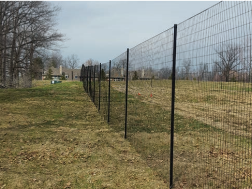 Armor-Flex fence used in the Cleveland, OH, Metro Parks.