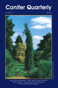 Conifer Quarterly Fall 2006