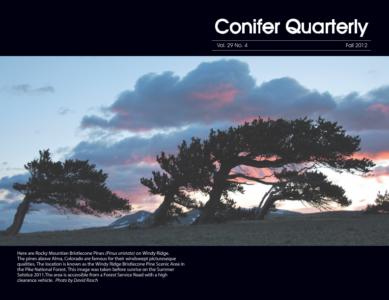 Conifer Quarterly Fall 2012