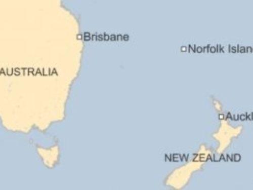 Norfolk island where it appears on Earth.