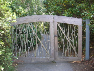 The gate out to the cliff path