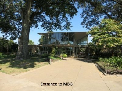 Entrance to the MBG