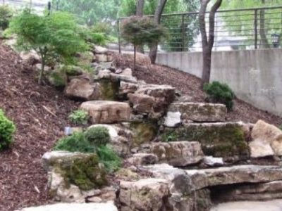 Four semi-loads of limestone went into the creation of the Dancers Garden