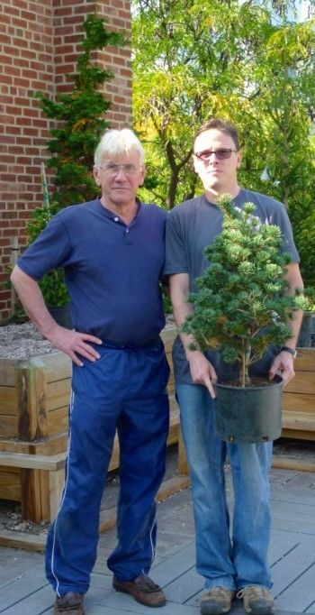 Bruce and Colby Feller begin to install the Arsenal test garden, October 2010.