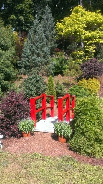 The Cox Arboretum featured ponds, streams and waterfalls as well as remarkable plantings