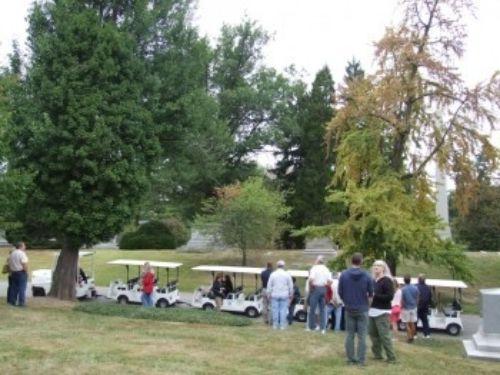 Spring Grove Arboretum with the original Ginkgo biloba '86' (now 'Jehosephat') on the left