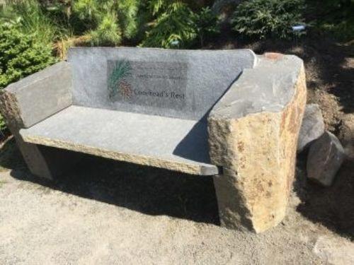 ACS bench at The Oregon Garden