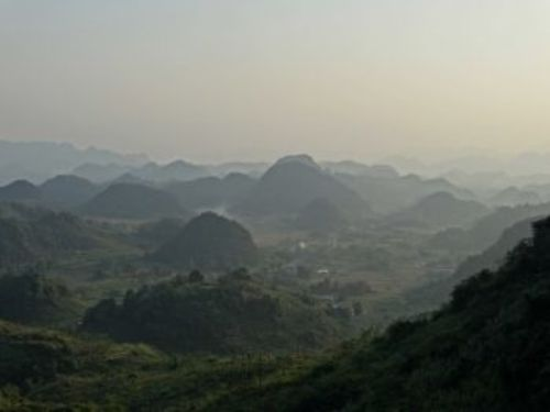 The limestone hills of Ha Giang province