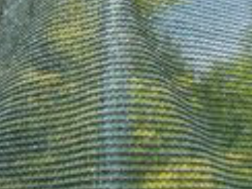 The conifer shade screen with cable tie eyelets