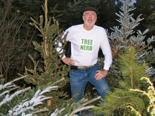 On an unusually warm New Years Eve we moved the Hillside Upright in its new home. Anna made this shirt for me for Christmas. Appropriate?