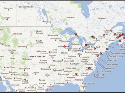 Map of Megastigma infestation